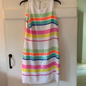Kate Spade Rainbow Sequin swing dress